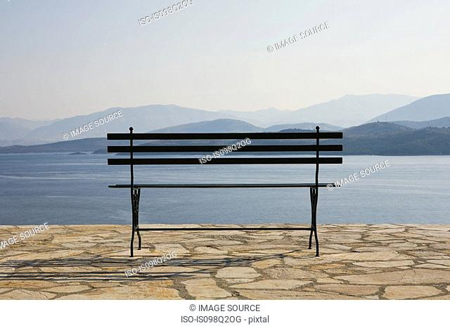 View of albania and a bench