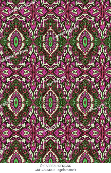 Magenta and green repetitive design