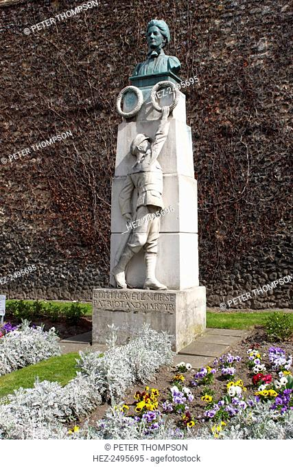 Edith Cavell Memorial, Norwich Cathedral, Norfolk, 2010