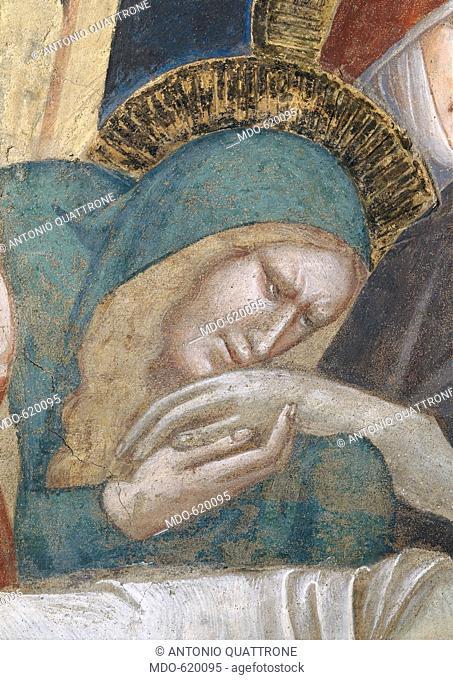 Tomb of Tessa de 'Bardi: lamentation over the Dead Christ (Tomba di Tessa de' Bardi: compianto sul Cristo morto), by Taddeo Gaddi, 1335 - 1345, 14th Century