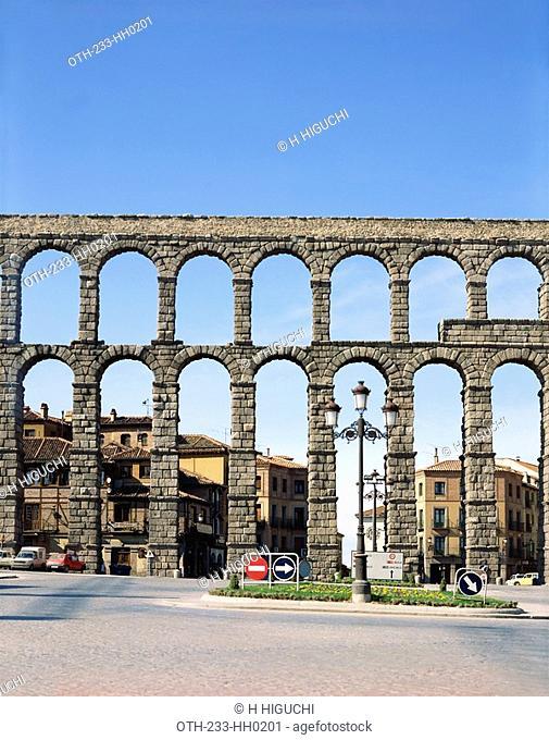Roman acqueduct, Segovia, Castilla, Spain