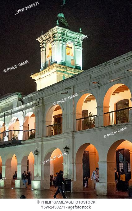 The Cabildo or colonial-era town all, now houses the Museo Historico del Norte, Salta, Argentina
