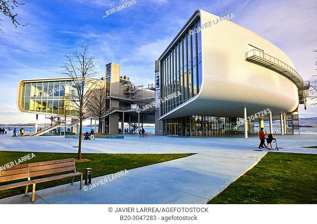 Botin Center Museum Art and Culture, Architect Renzo Piano, Jardines de Pereda, Santander, Cantabria, Spain, Europe