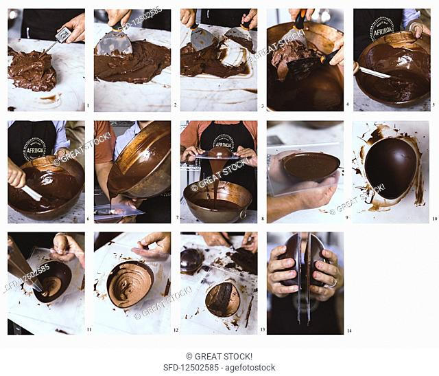 How to make a chocolate mousse cake easter egg