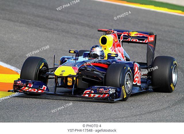 Sebastian Vettel GER, Testing Valencia, Spain, 2011