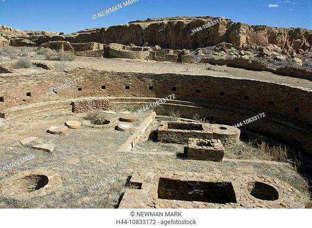 USA, America, United States, North America, New Mexico, Chaco Culture, National Historic Park, Chaco Canyon, Anasazi