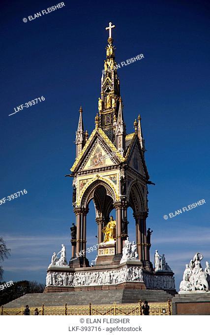 The Albert Memorial, Hyde Park, London, England