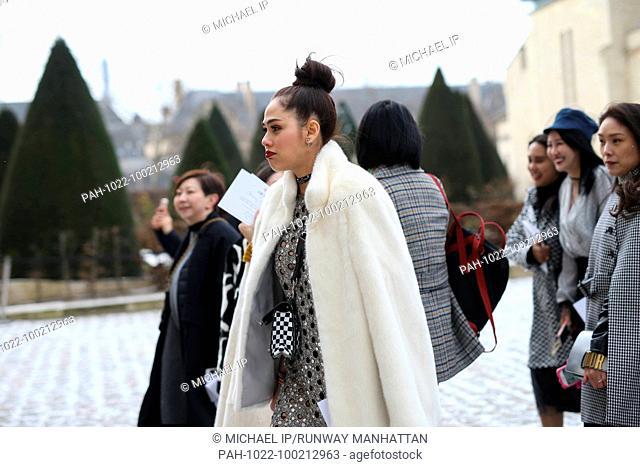 Araya Alberta Hargate attending the Christian Dior show during Paris Fashion Week - Feb 27, 2018 - Photo: Runway Manhattan/Michael Ip ***For Editorial Use...