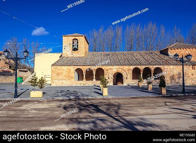 Santa Maria La Mayor Church in Penalba de San Esteban town in municipality of San Esteban de Gormaz, Province of Soria in Spain