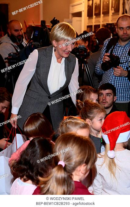 December 4, 2016 Warsaw, Poland. The First Lady Agata Duda took part in a charity event organized by Radio 1