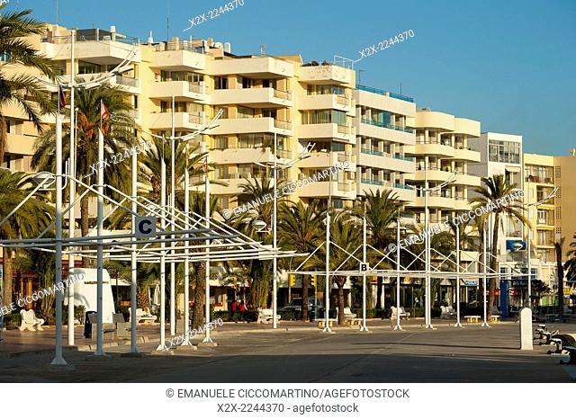 La Marina, Port of Ibiza, Eivissa, Ibiza, Balearic Islands, Spain, Mediterranean, Europe