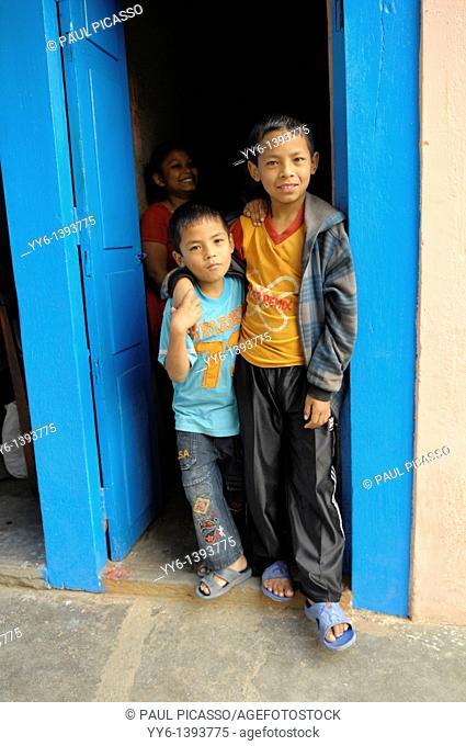 Two young nepalis boys posing, the nepalis, life in kathmandu, kathmandu street life, nepal