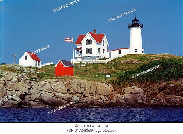 lighthouse located at Cape Neddick, Maine, United States