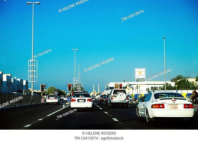 Dubai UAE Heavy Traffic Jumeira