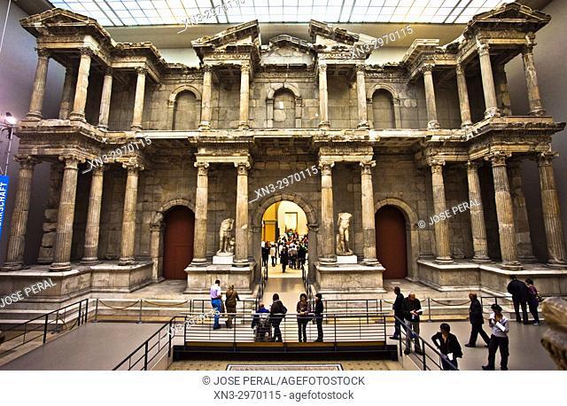 The Roman Market Gate of Miletus Pergamon Museum, Museum Island, Berlin, Germany, Europe