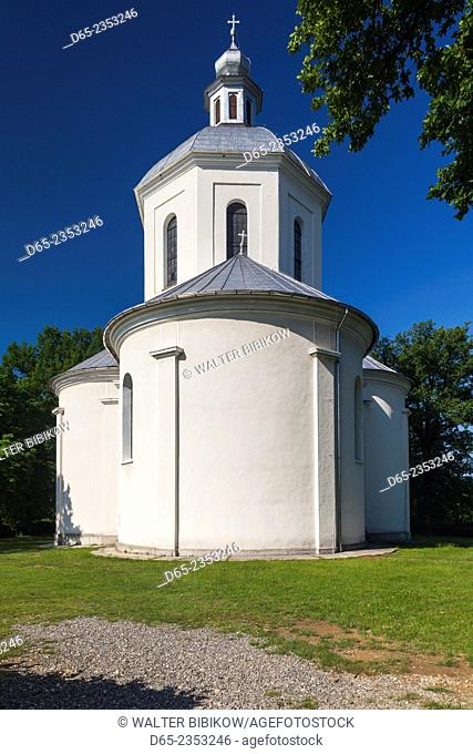 Romania, Maramures Region, Sisesti, Greco-Catholic town church built by parish priest Vasile Lucaciu in 1885 to look like St. Peter's Basilica in Rome
