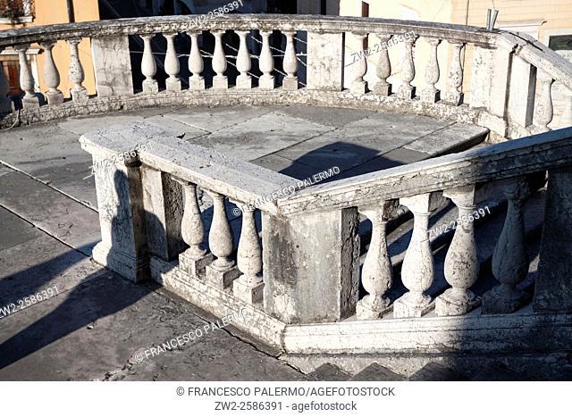 Architecture of the cathedral city. Schio, Veneto. Italy
