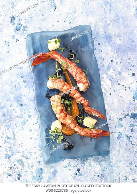 gambas escarlatas confitadas / candied scarlet prawns