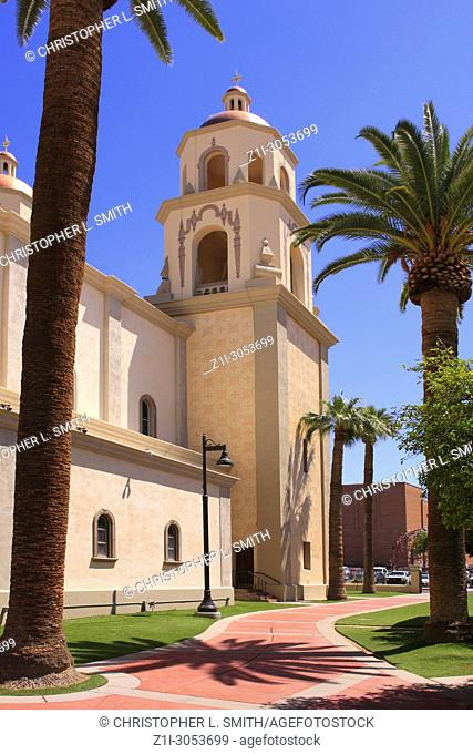 St. Augustine Catholic Church on Stone Ave in Tucson, Arizona, USA