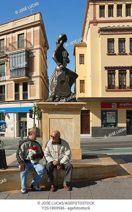 Monument to the Art of Flamenco, Altozano square, Triana district, Seville, Spain, Europe