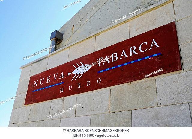 Sign, museum, Tabarca, Isla de Tabarca, Alicante, Costa Blanca, Spain, Europe