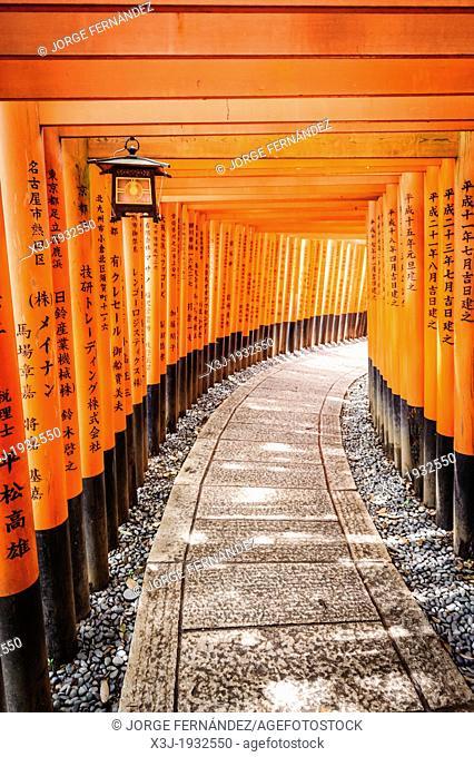 Details of the Fushimi-Inari-Taisha shrine, Kyoto, Japan, Asia