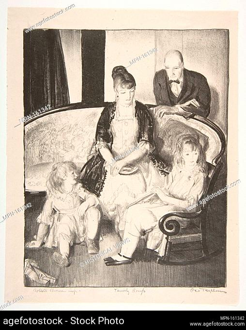 My Family, Second Stone. Artist: George Bellows (American, Columbus, Ohio 1882-1925 New York); Publisher: George Bellows (American, Columbus