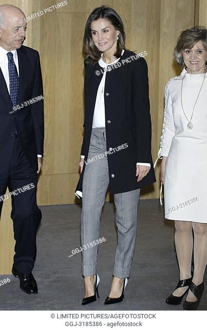 Queen Letizia of Spain attends 10th anniversary of 'Integra BBVA Awards' at BBVA city on November 22, 2018 in Madrid, Spain.22/11/2018