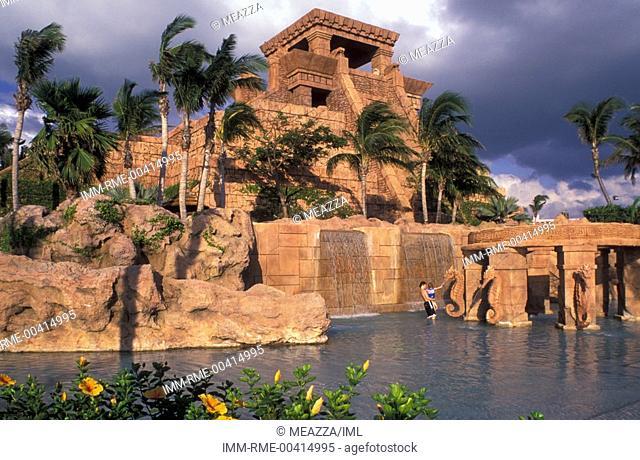 Nassau, Atlantis Hotel, beach  Bahamas, Caribbean, America