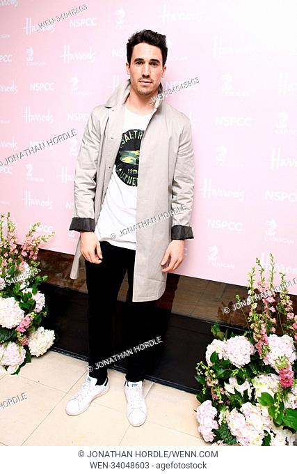 fashion retold pop up store in aid of the Nspcc Featuring: Josh Patterson Where: London, United Kingdom When: 12 Apr 2018 Credit: Jonathan Hordle/WENN