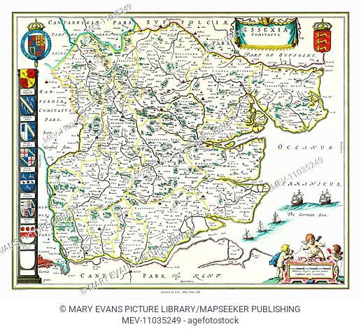 Map of Essex by Johan Blaeu