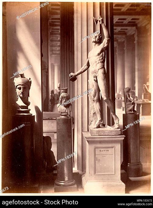 Satyr, British Museum. Artist: Stephen Thompson (British, active 1870s); Date: 1869-72; Medium: Albumen silver print from glass negative; Dimensions: Image: 28...