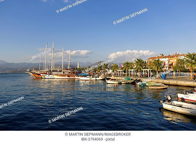 Fishing boats and excursion boats, Fethiye, Mugla Province, Lycian Coast, Aegean, Turkey