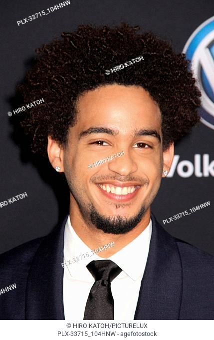 """Jorge Lendeborg Jr. 12/09/2018 The Global Premiere of """"""""Bumblebee"""""""" held at TCL Chinese Theater in Los Angeles, CA Photo by Hiro Katoh / HNW / PictureLux"""