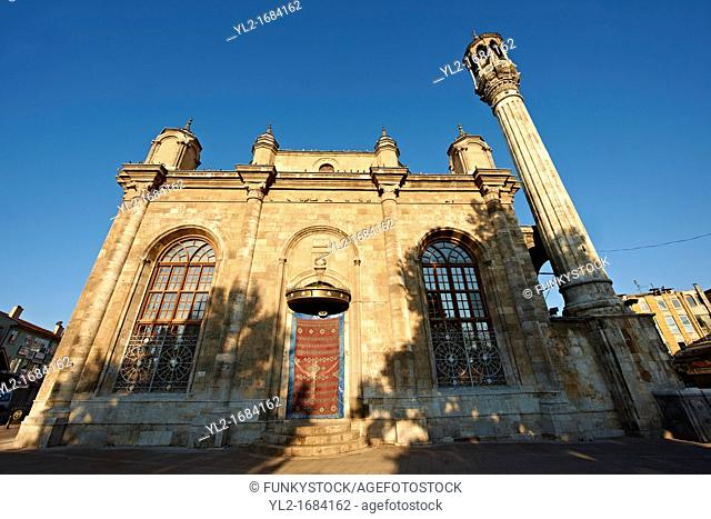 Aziziye Camii Mosque with oriental style minarets and windows that are larger than the doors  Konya, Turkey