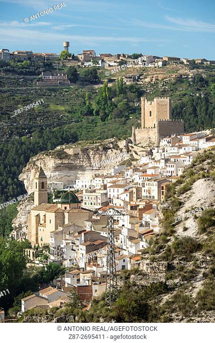 View of Alcalá del Júcar, La Manchuela region, Albacete province, Castile La Mancha, Spain