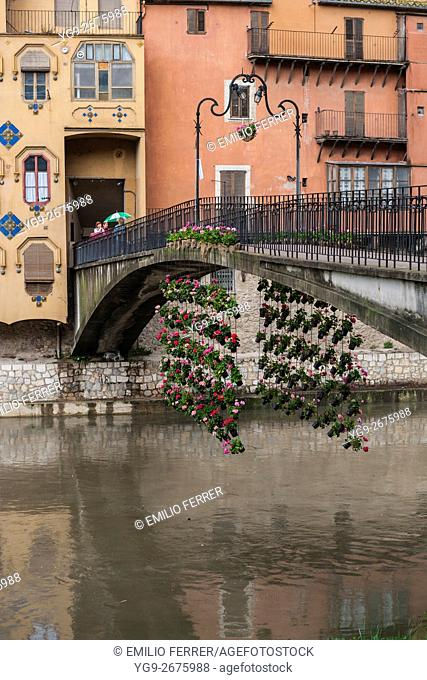 BRIDGE AND FLORAL ART EXHIBITION IN GIRONA. CATALONIA. SPAIN