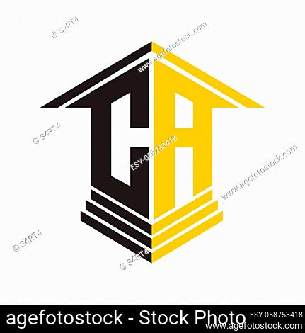 CA perspectif letter house logo for real estate and construction