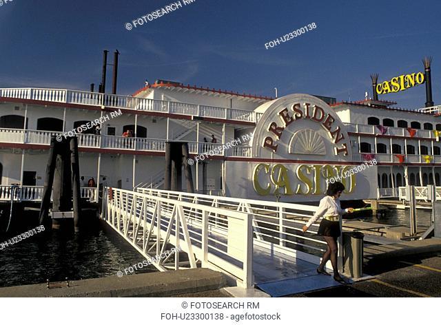 casino, Biloxi, Mississippi, riverboat, MS, President Casino Riverboat on the Gulf of Mexico in Biloxi