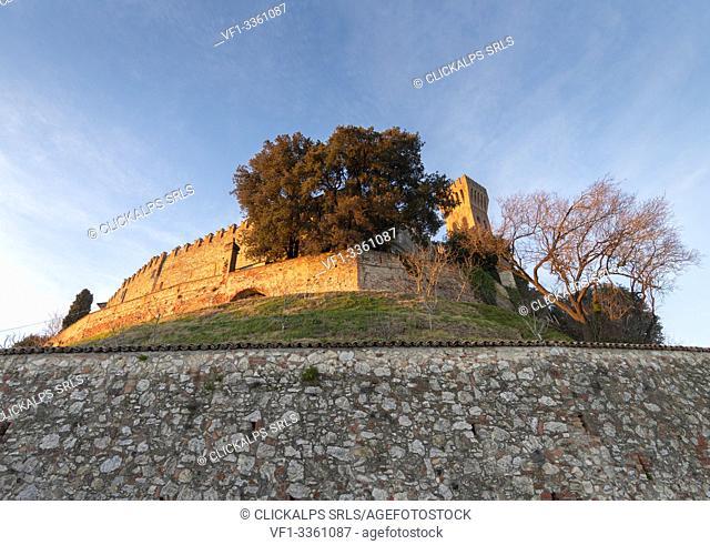 The castle of Cigognola, Oltrepo Pavese, Province of Pavia, Lombardy, Italy