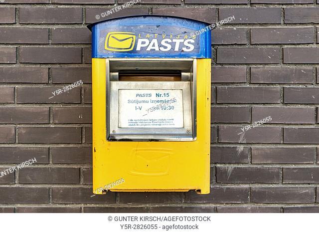 Detail photo of a Latvian mailbox, Latvia, Baltic States, Europe