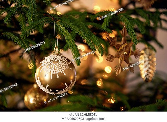 Christmas tree with decorations, Still life Christmas