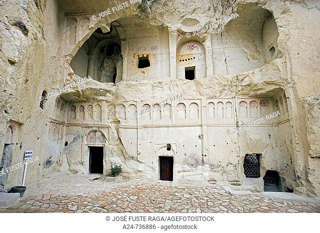 Karanlik Kilise ('Dark Church'), Goreme open air museum. Cappadocia, Turkey