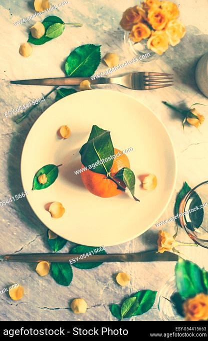 Wedding party, event decoration and inspiration concept - Creative artsy table decor idea