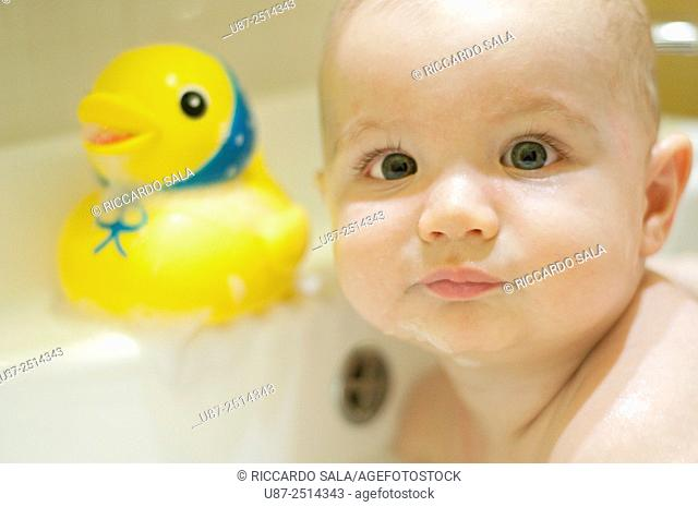 Baby Boy and Yellow Duck. . . .