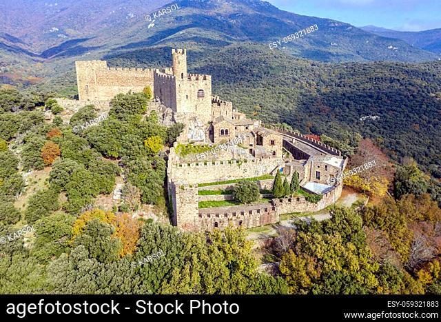Castle Requesens peak Neulos Albera massif Girona Spain