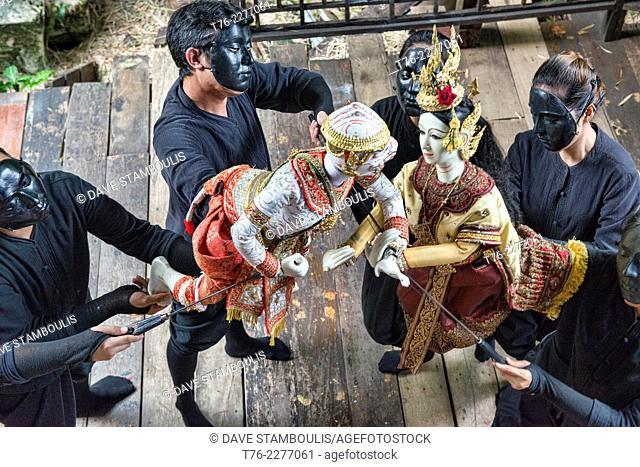 Traditional Thai puppet show at Baan Silapin in Bangkok, Thailand