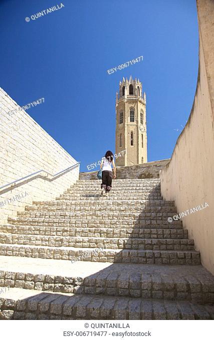 views of Lleida city at Catalonia Spain