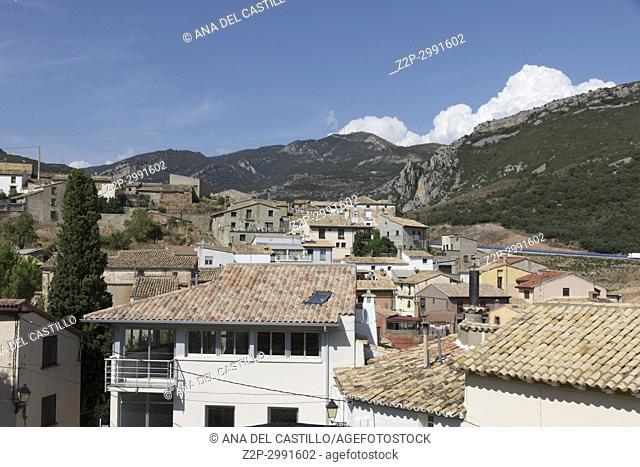 Nueno village Huesca Aragon Spain