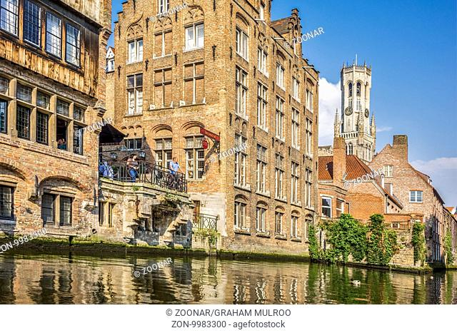 A View Along The Canal Bruges Belgium